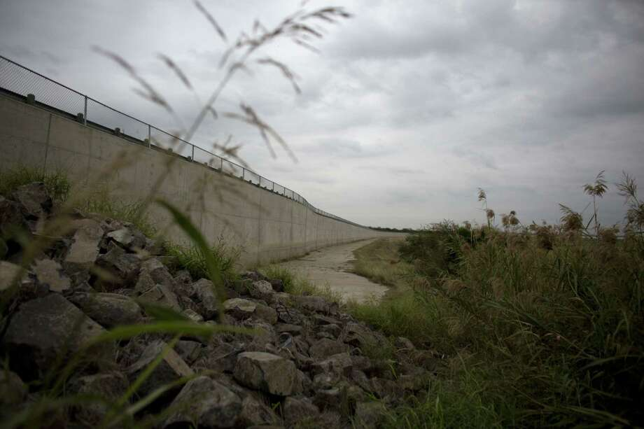 A section of border wall stands in Anzalduas Park in Mission, Texas, across the Rio Grande from Reynosa, Mexico. Photo: Rebecca Blackwell — The Associated Press FILE PHOTO   / AP