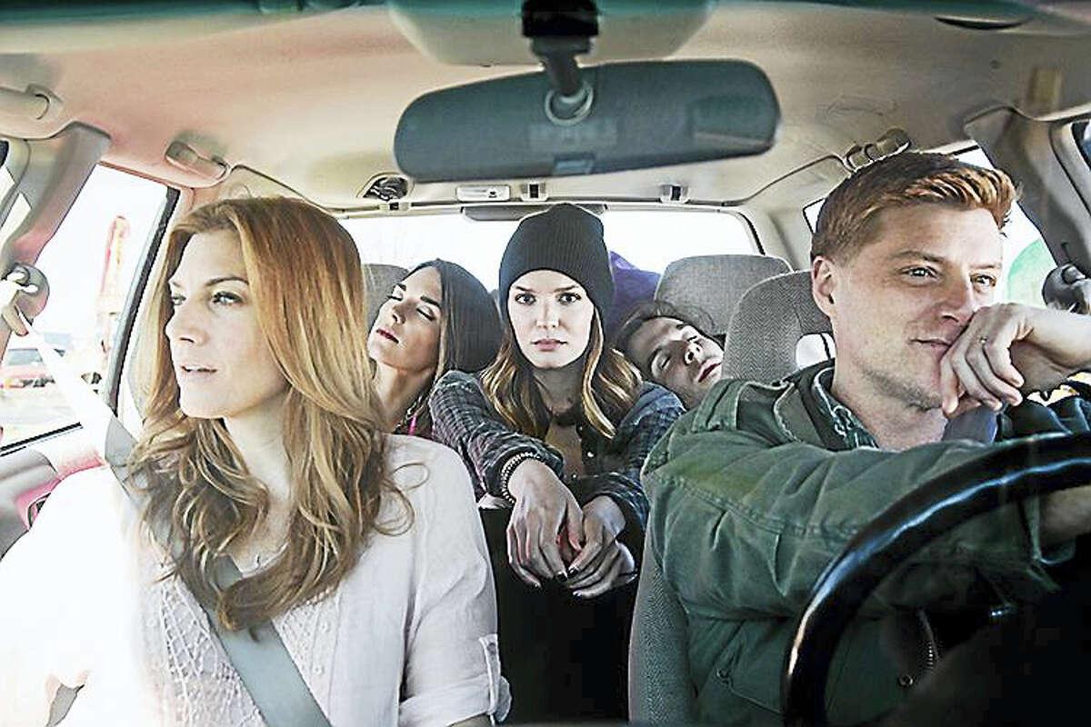 "From left, Jessica Phillips, Kelli Barrett, Jennifer Damiano, Johnny Shea and Sean Allan Krill in Goodspeed's ""Deathless."""