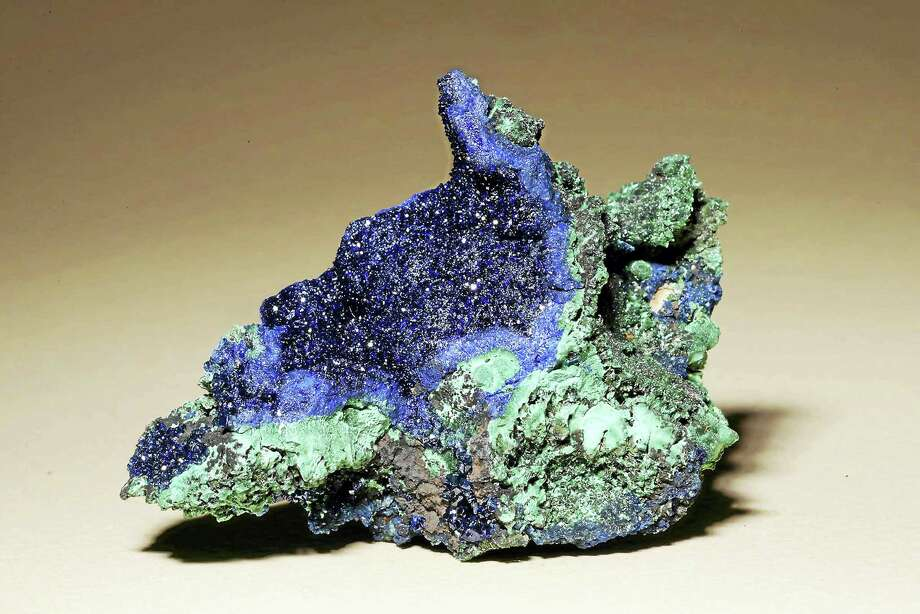 Azurite and malachite often appear together because they're copper-based and often found in copper mines. Photo: Contributed