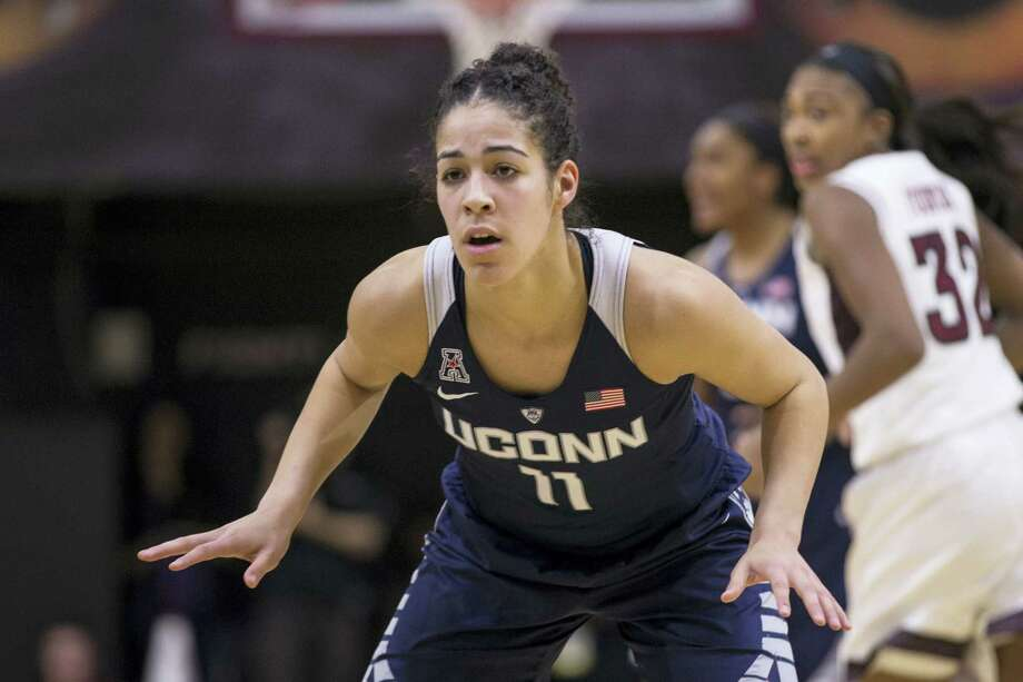 Connecticut's Kia Nurse (11) in action during the second half of an NCAA basketball game against Temple, Sunday, Feb. 14, 2016, in Philadelphia. Connecticut won 85-60. (AP Photo/Chris Szagola) Photo: AP / FR170982 AP