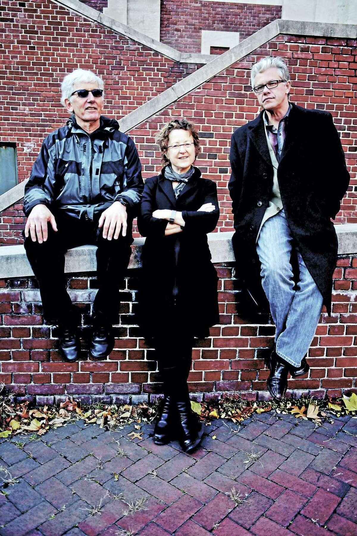 Mark Dresser (bass), Myra Melford (piano) and Matt Wilson (drums) of Trio M.