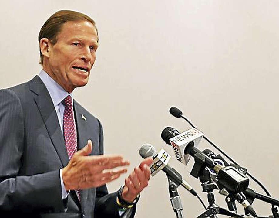 (Richard Blumenthal - CTNewsjunkie file photo) Photo: Digital First Media