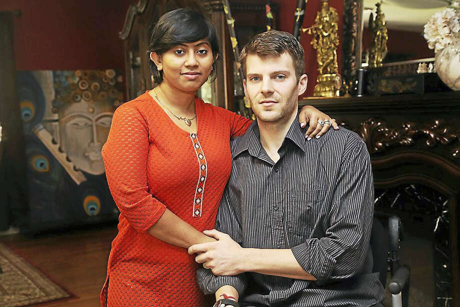 Collin Walsh and fiancée, Amika. Photo: Courtesy Of House Of Heros Connecticut