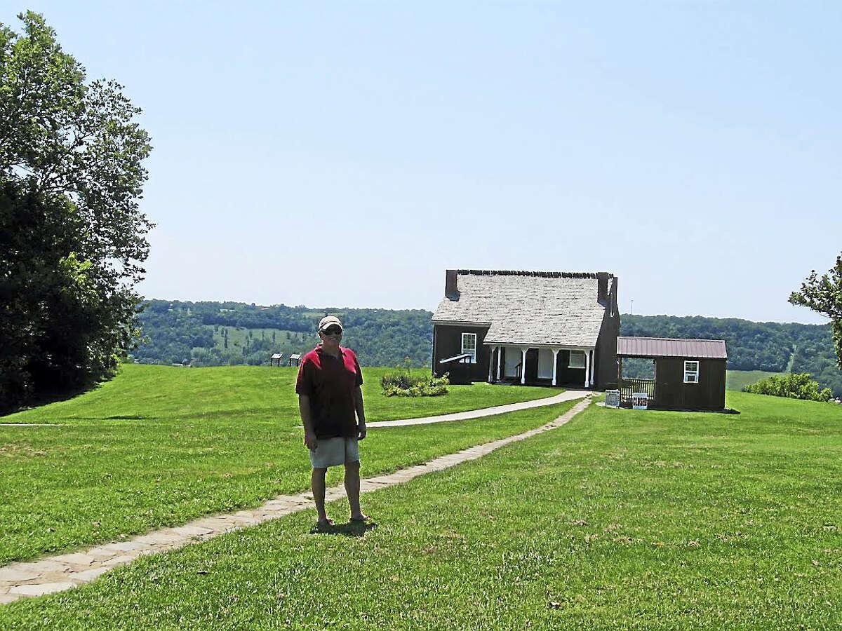 Don Rankin visits the house of his ancestor, the Rev. John Rankin, in Ripley, Ohio.