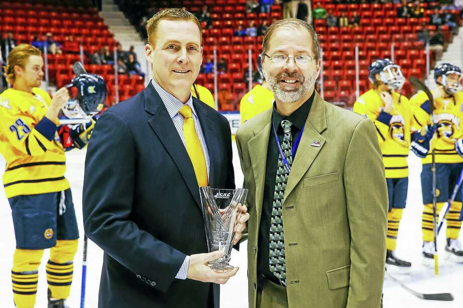 Submitted  Rand Pecknold has been named ECAC Hockey Coach of the Year. Photo: Journal Register Co. / © Rob Rasmussen