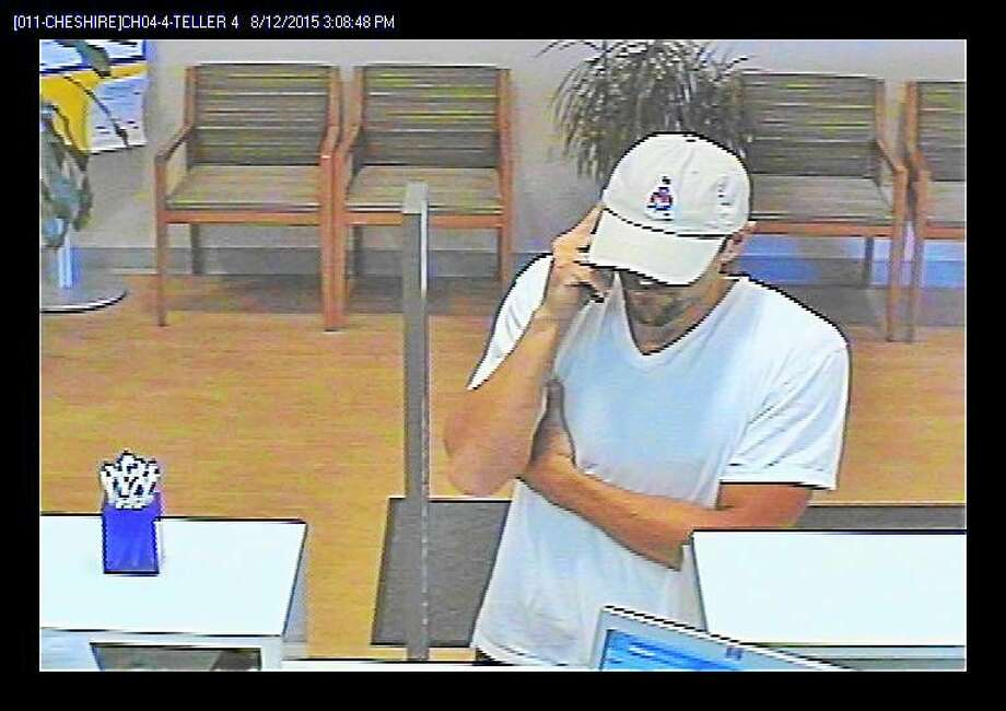 The photo the FBI released while searching for the suspect who turned out to be Matthew Dragone, who was found guilty of robbing six banks in Connecticut, including this one in Cheshire. Photo: Contributed