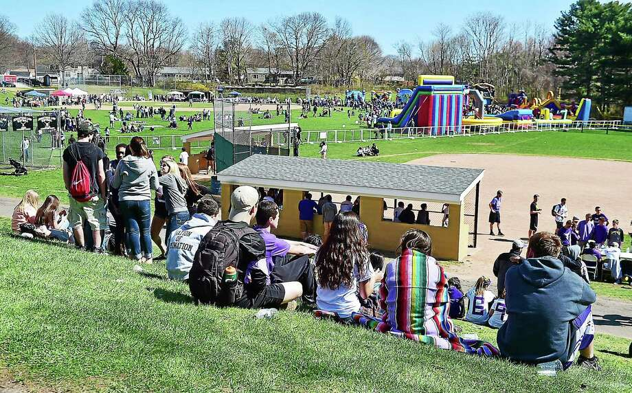 """The view from the hill at Jonathan Law High School, where hundreds came out for """"Peace Love & Music from Maren"""" in 2015. Photo: Catherine Avalone — New Haven Register FILE   / New Haven RegisterThe Middletown Press"""