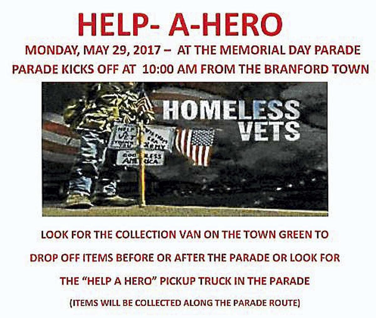 Help-a-Hero flier.