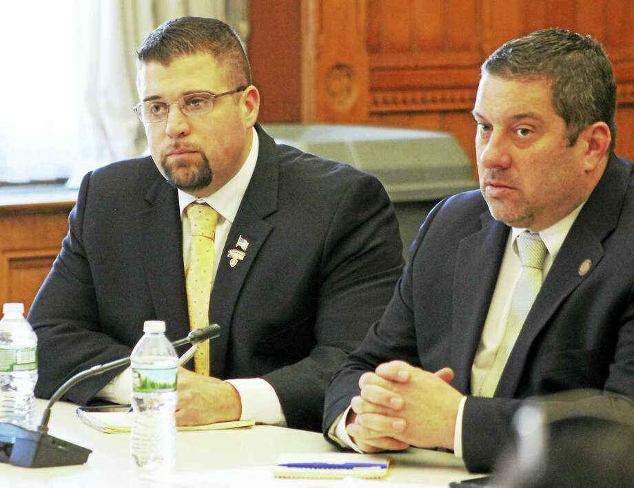 CONTRIBUTED PHOTO  Rep. Brian Ohler and Rep. Jay Case recently shared their approval as a bill that would create a state registry system for sober homes was approved by the Public Health Committee. Photo: Digital First Media