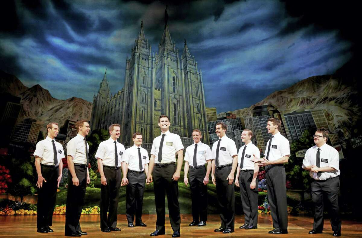 """A scene from """"The Book of Mormon."""""""