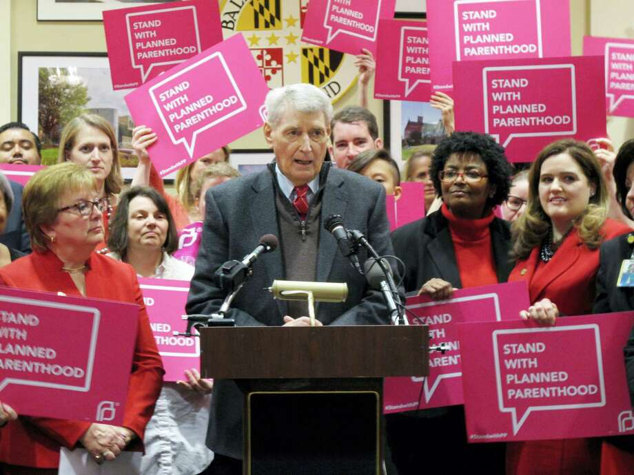 In this March 8, 2017 photo, Maryland House Speaker Michael Busch speaks at a news conference in Annapolis, Md., in support of legislation to continue funding for services provided by Planned Parenthood. Democratic lawmakers in some states including Maryland are pressing ahead with efforts to protect birth control access, Planned Parenthood funding and abortion coverage in case they are jeopardized in the future. Photo: AP Photo — Brian Witte, File   / AP