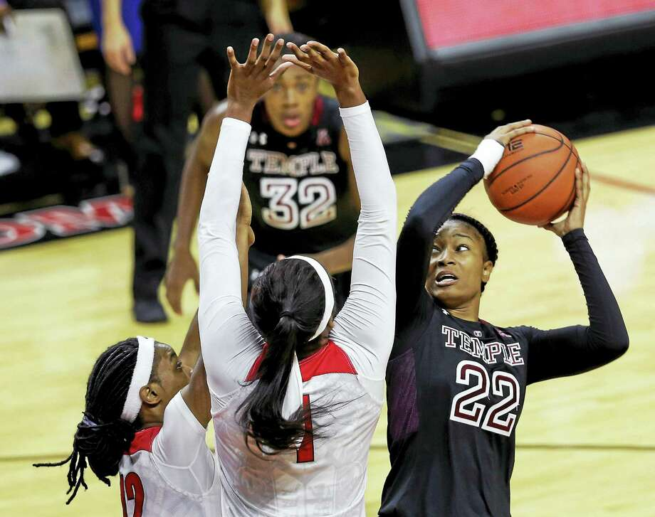 Former Career standout Tanaya Atkinson and Temple play host to UConn today. Photo: File Photo - The Associated Press   / AP