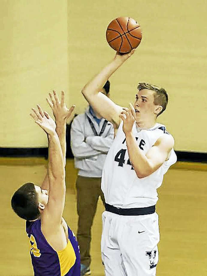 Yale senior Sam Downey is averaging 12.2 points and 6.5 rebounds per game for the Bulldogs this season. Photo: Photo By Steve Musco   / ©2016-2017 Steve Musco. All rights reserved.