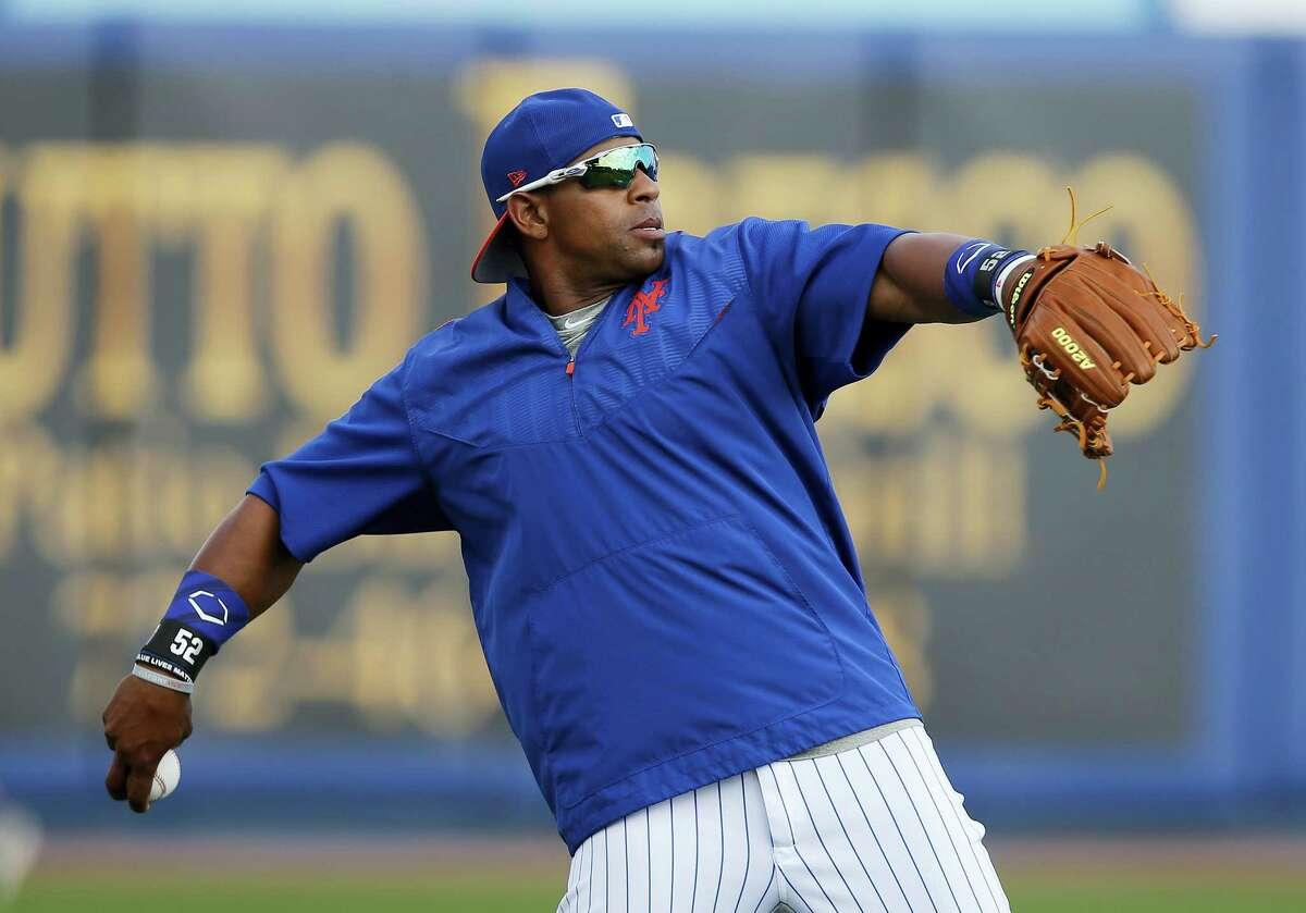 Mets left fielder Yoenis Cespedes.