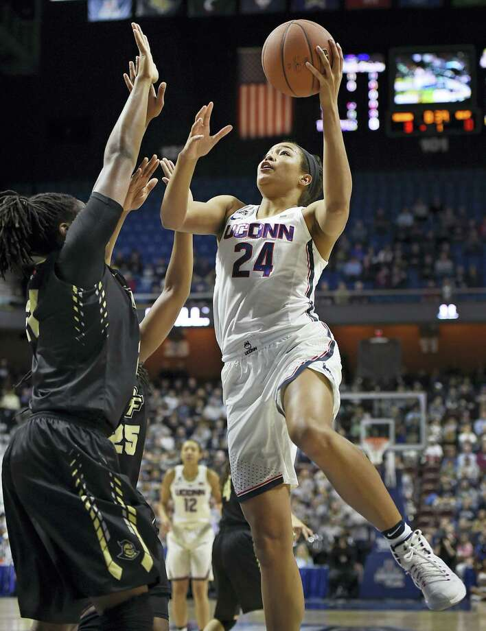 UConn's Napheesa Collier goes up for a shot. Photo: The Associated Press File Photo   / AP2017
