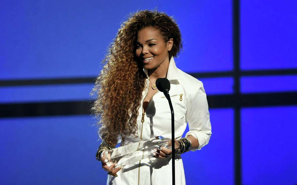 Janet Jackson accepts the ultimate icon: music dance visual award at the BET Awards at the Microsoft Theater on June 28, 2015 in Los Angeles.