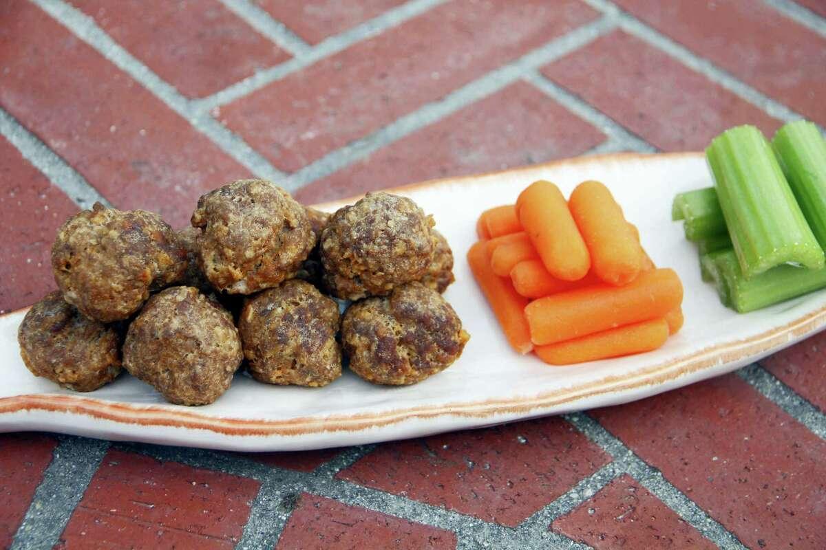 Buffalo-style meatballs
