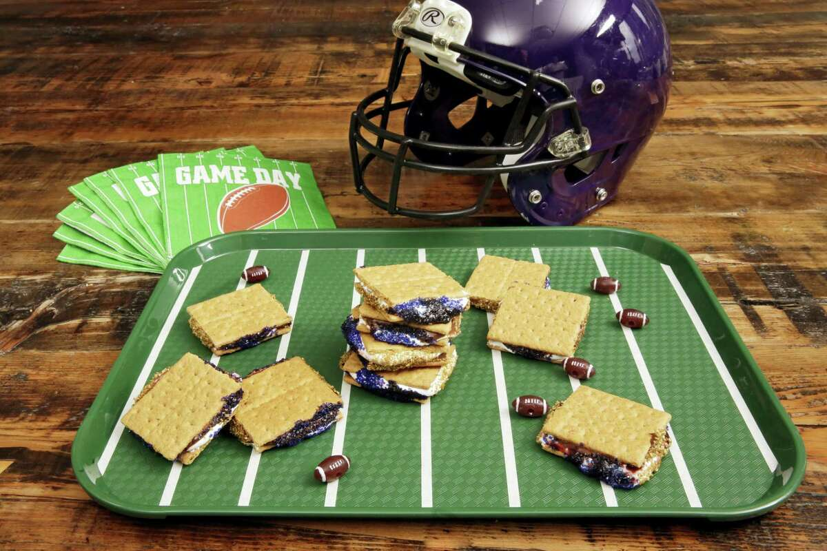 Game day s'mores are a riff on the very popular summer campfire s'mores.