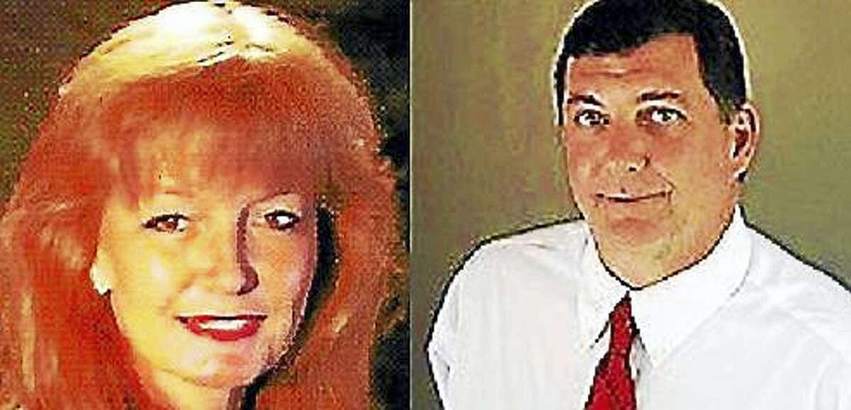 Nancy Rossi, left, and West Haven Mayor Ed O'Brien