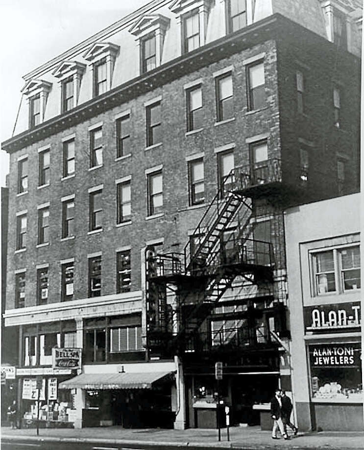 The New Haven District Telephone office and the first telephone exchange were located in New Haven, in the storefront with the awning (since demolished). Photo: Courtesy Of National Park Service, National Historic Landmarks Program