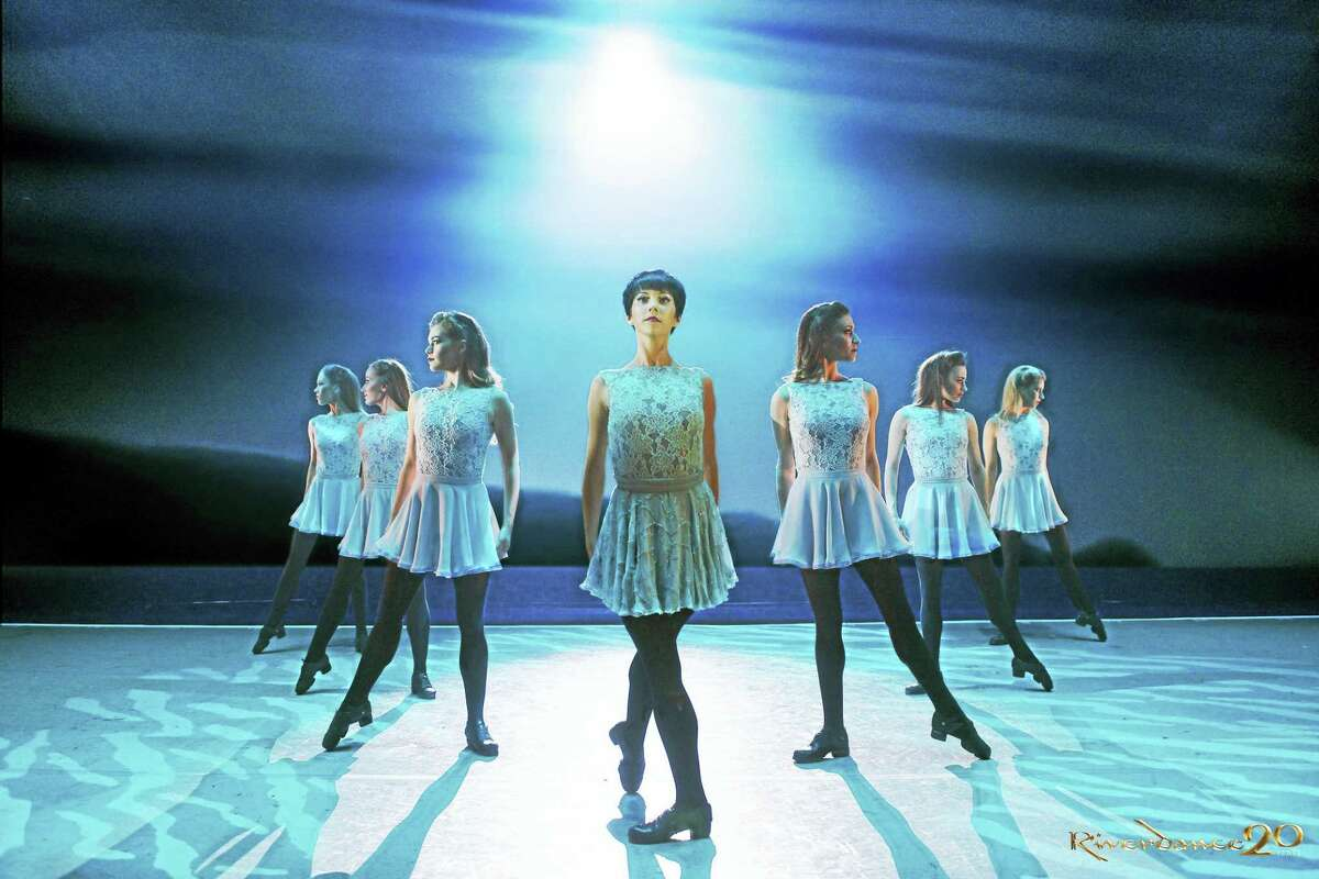 """Members of the cast of """"Riverdance"""" perform the new dance """"Anna Livia."""""""