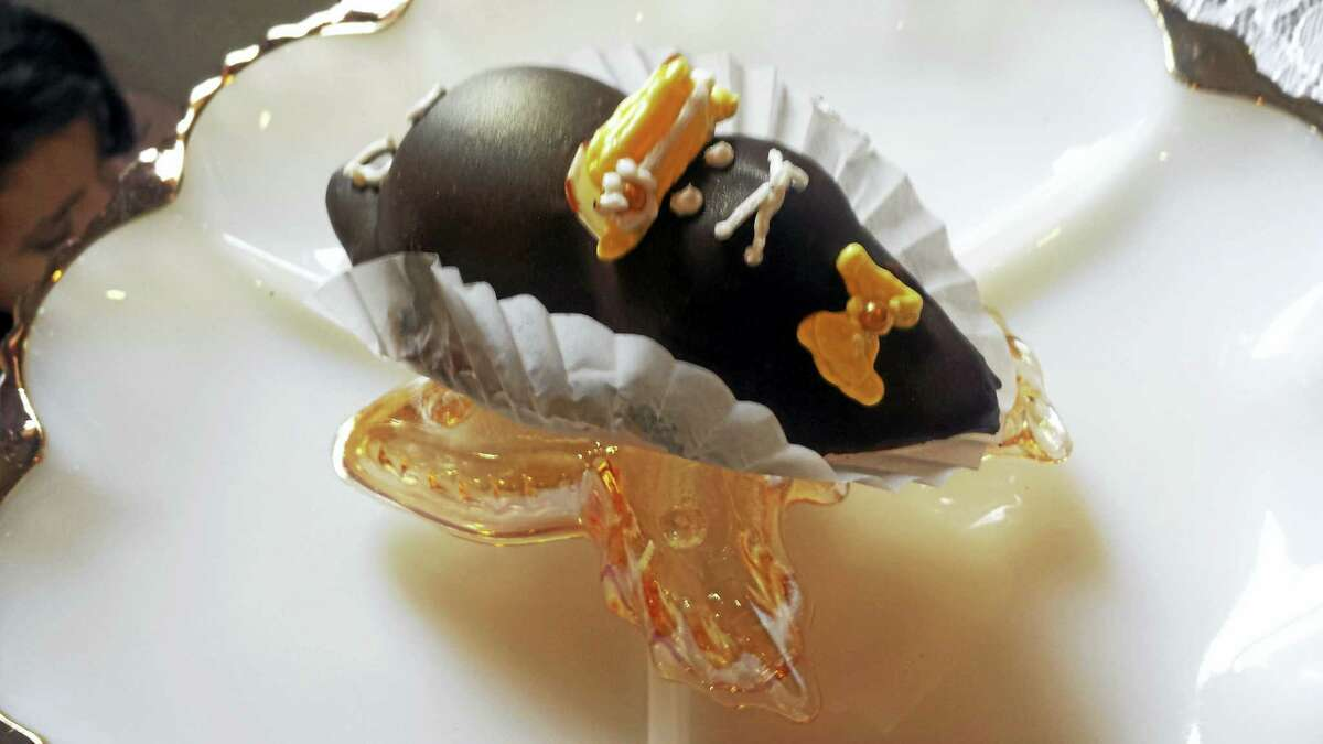 Marjolaine Pastry Shop owner Arlene Cardenis showcased tiny truffle mice made of frangipane almond paste dipped in chocolate. The event benefits the Middlesex Family Shelter on Daddario Road, which houses homeless families.