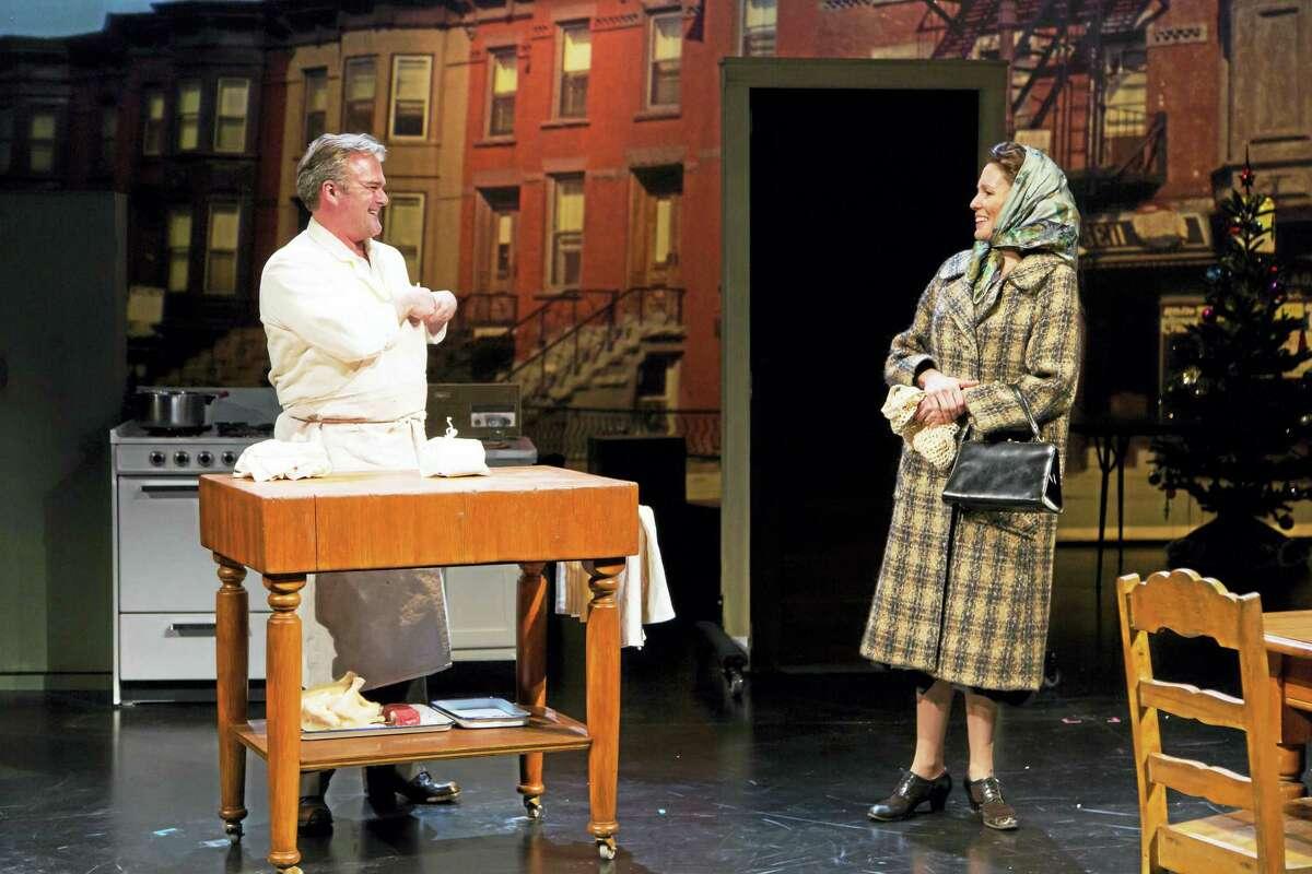 "Graham Winton and Alyssa Bresnahan in a scene from ""Napoli, Brooklyn."""