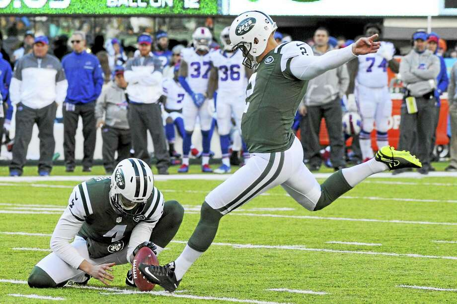 Kicker Nick Folk (2) was released by the Jets on Thursday. Photo: The Associated Press File Photo   / FR51951 AP