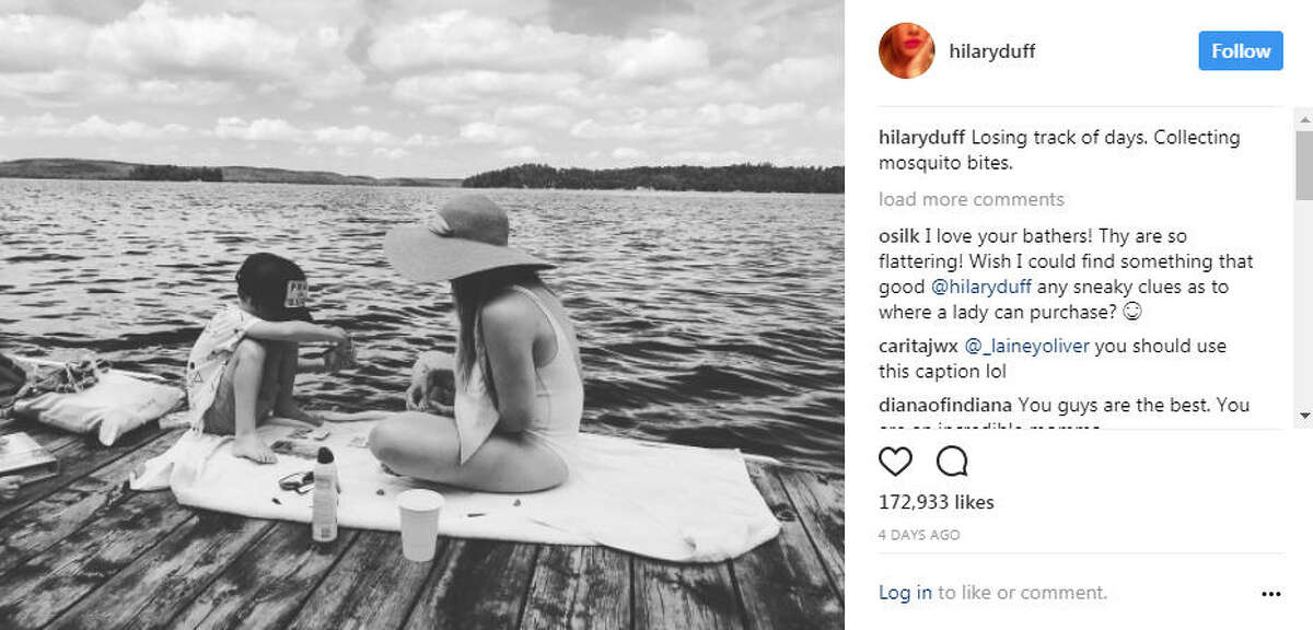 A few of the vacation pics Hilary Duff has shared over the summer.