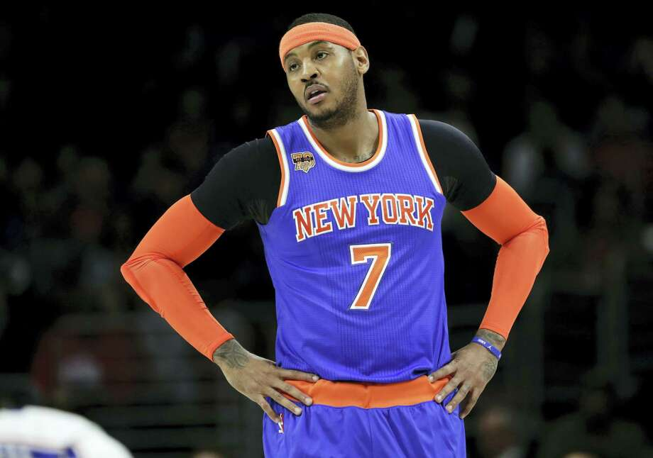 Like a number of other big-game stars, Carmelo Anthony was among those not traded on Thursday. Photo: The Associated Press File Photo   / Copyright 2017 The Associated Press. All rights reserved.
