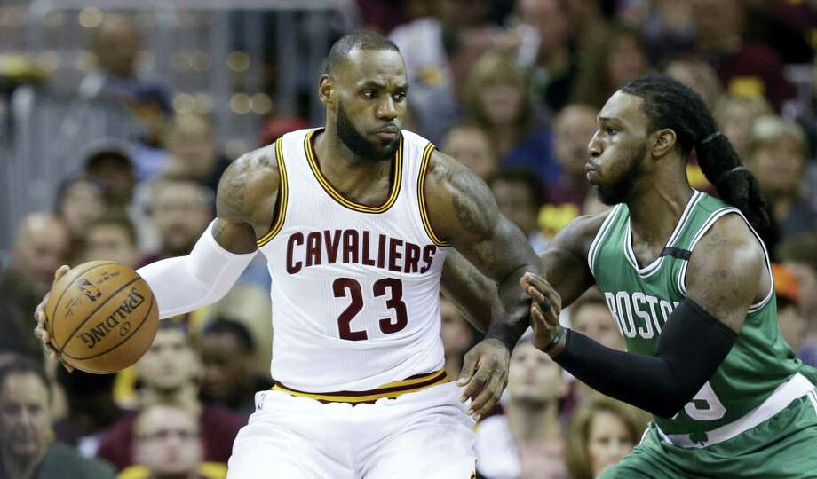 Cleveland Cavaliers' LeBron James (23) looks to drive against Boston Celtics' Jae Crowder (99) during the first half of Game 3 of the NBA basketball Eastern Conference finals on May 21, 2017 in Cleveland. Photo: AP Photo — Tony Dejak   / AP 2017