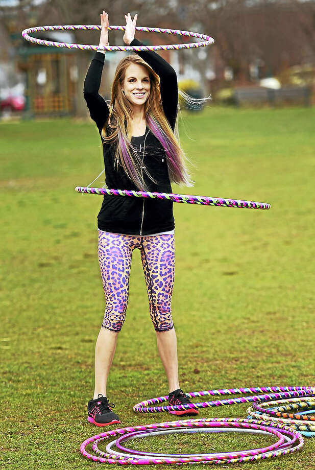 Kailey Mitchell of North Branford  has a business, Hipnotic Hoopla, making hula hoops, performing with the hula hoop at a variety of events and giving fitness class along the Shoreline using the hula hoop. Photo: Peter Hvizdak — New Haven Register   / ©2017 Peter Hvizdak