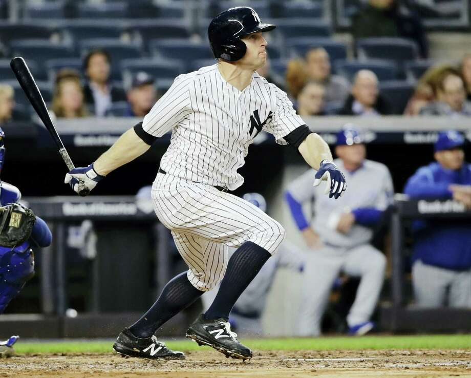 The Yankees' Brett Gardner follows through on a home run during the third inning against the Royals Monday in New York. Photo: Frank Franklin II — The Associated Press   / Copyright 2017 The Associated Press. All rights reserved.
