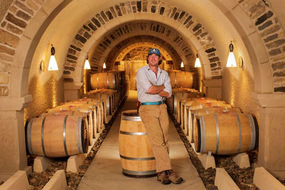 """Rutger de Vink in RdV Vineyard's underground cave: """"We want barrels that will impose some focus on the wines."""" Photo: Logan Mock-Bunting For The Washington Post   / For The Washington Post"""