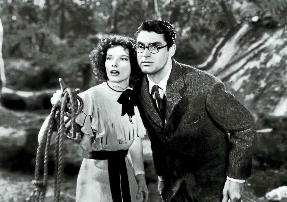 """Bringing Up Baby,"" the 1933 madcap comedy with Cary Grant and Katherine Hepburn, which had a connection to  the Yale Peabody Museum. Photo: Contributed Photo"