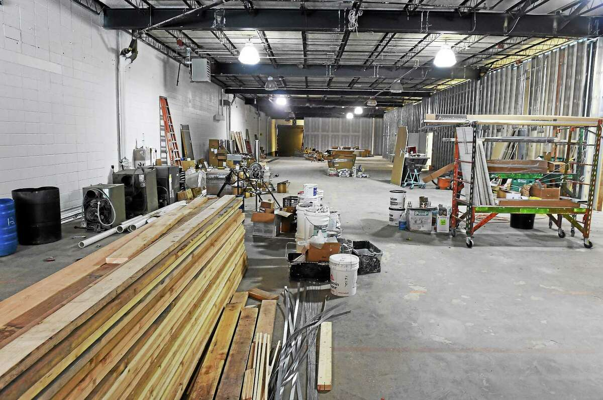 David Lipton, a partner in Advanced Grow Labs of West Haven, took a New Haven Register reporter and photographer on a tour of his company's 26,000-square-foot medical-marijuana growing and wholesale products facility under construction in West Haven in 2014.
