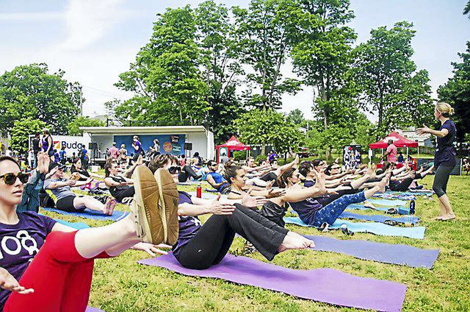 Outdoor yoga is on tap at the Pardee-Morris House June 25. Photo: Contributed