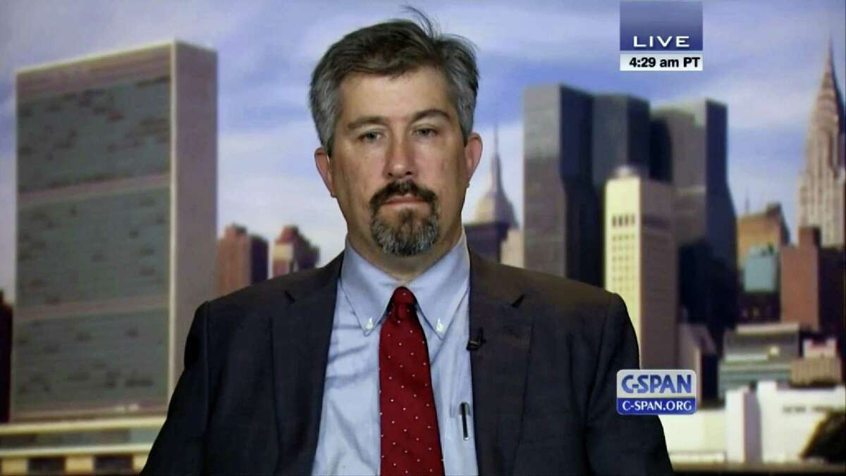 In this image from video provided by C-SPAN, Wall Street Journal reporter Jay Solomon is interview on the C-SPAN program Washington Journal on Sept. 23, 2014 in Washington. The Wall Street Journal on June 21, 2017, fired Solomon after evidence emerged about his involvement in prospective business deals, including one involving arms sales to foreign governments, with an international businessman who was one of his key sources. Solomon was offered a 10 percent stake in a fledgling company, Denx LLC, by Farhad Azima, an Iranian-born aviation magnate who ferried weapons for the CIA. It was not clear whether Solomon ever received money or formally accepted a stake in the company. Solomon did not immediately comment.
