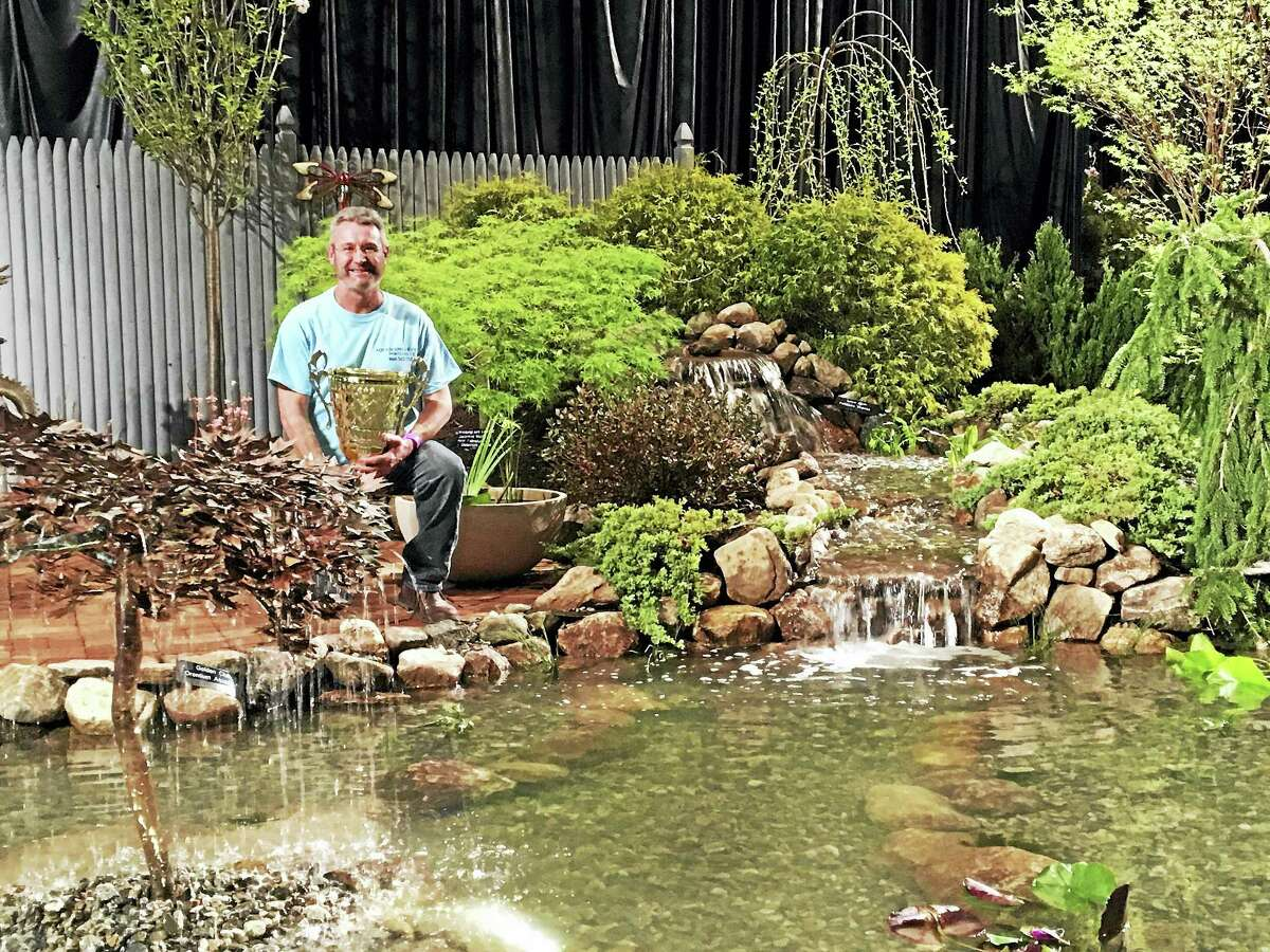 Winner of last year's Best of Show Landscaping Award: Aqua Scapes of Connecticut LLC of Portland and owner Rob Townsend.