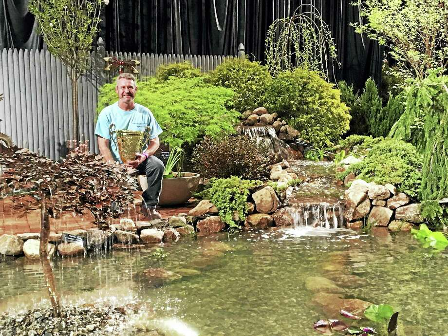 Winner of last year's Best of Show Landscaping Award: Aqua Scapes of Connecticut LLC of Portland and owner Rob Townsend. Photo: Photo Courtesy Of Connecticut Flower & Garden Show