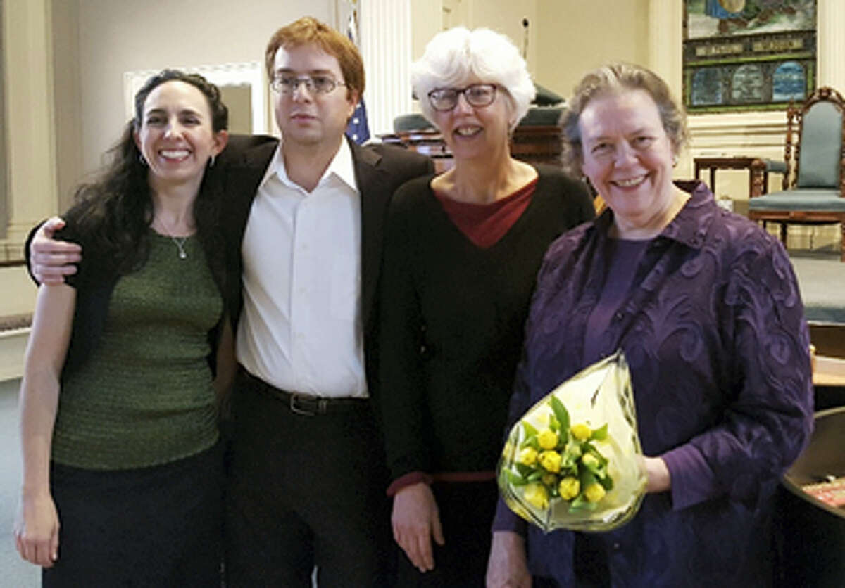 Members of sFOURzando are, from left, Laura Richling, George Melillo, Vicky Reeve and Margaret Anne Martin.