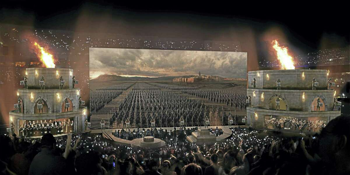 """The staging for """"Game of Thrones Concert Experience."""""""