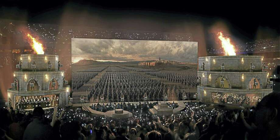 """The staging for """"Game of Thrones Concert Experience."""" Photo: Contributed"""