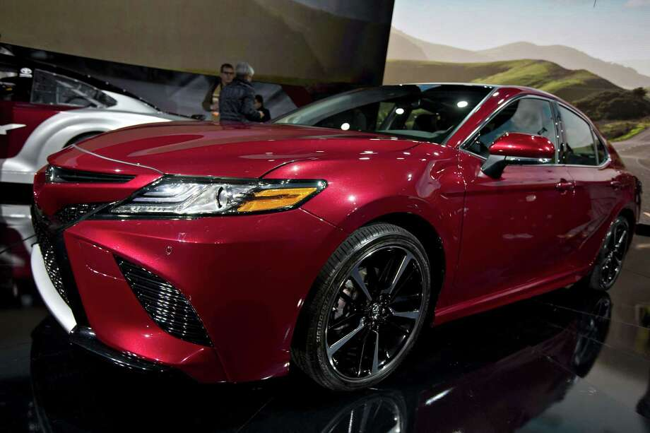 The Toyota 2018 Camry XSE vehicle sits on display during the 2017 North American International Auto Show in Detroit on Jan. 9, 2017. Photo: Bloomberg Photo — Andrew Harrer   / © 2017 Bloomberg Finance LP