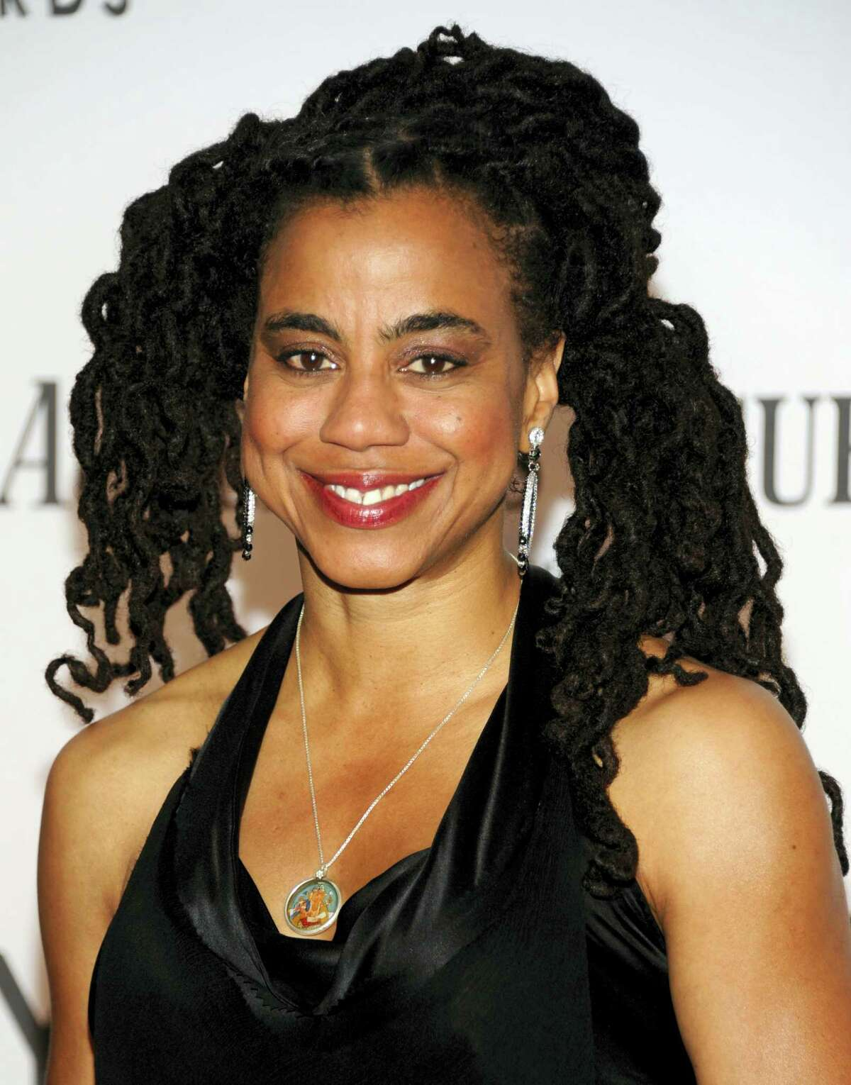 """In a June 10, 2012 photo, playwright and screenwriter Suzan-Lori Parks arrives at the 66th Annual Tony Awards, in New York. Parks, best known for her Pulitzer Prize-winning play """"Topdog/Underdog,"""" received a PEN award for """"Master American Dramatist,"""" PEN announced Feb. 22, 2017."""