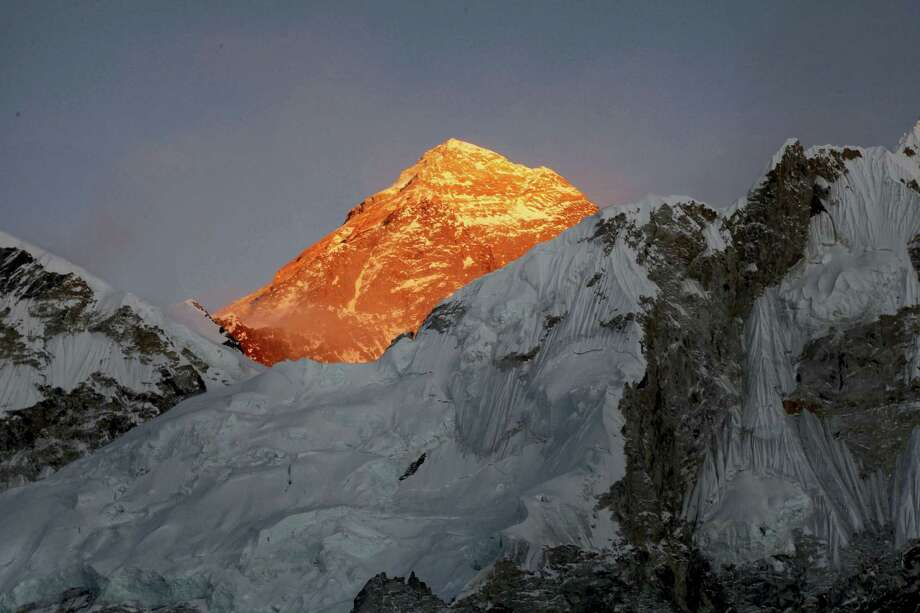 In this Nov. 12, 2015 photo, Mt. Everest is seen from the way to Kalapatthar in Nepal. An American climber has died near the summit of Mount Everest and an Indian climber is missing after heading down from the mountain following a successful ascent, expedition organizers said Sunday. Photo: AP Photo — Tashi Sherpa, File   / Copyright 2016 The Associated Press. All rights reserved. This material may not be published, broadcast, rewritten or redistribu
