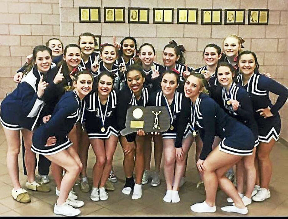 Lauralton Hall cheerleaders won state championship and competed at New England regionals. Contributed photo Photo: Digital First Media
