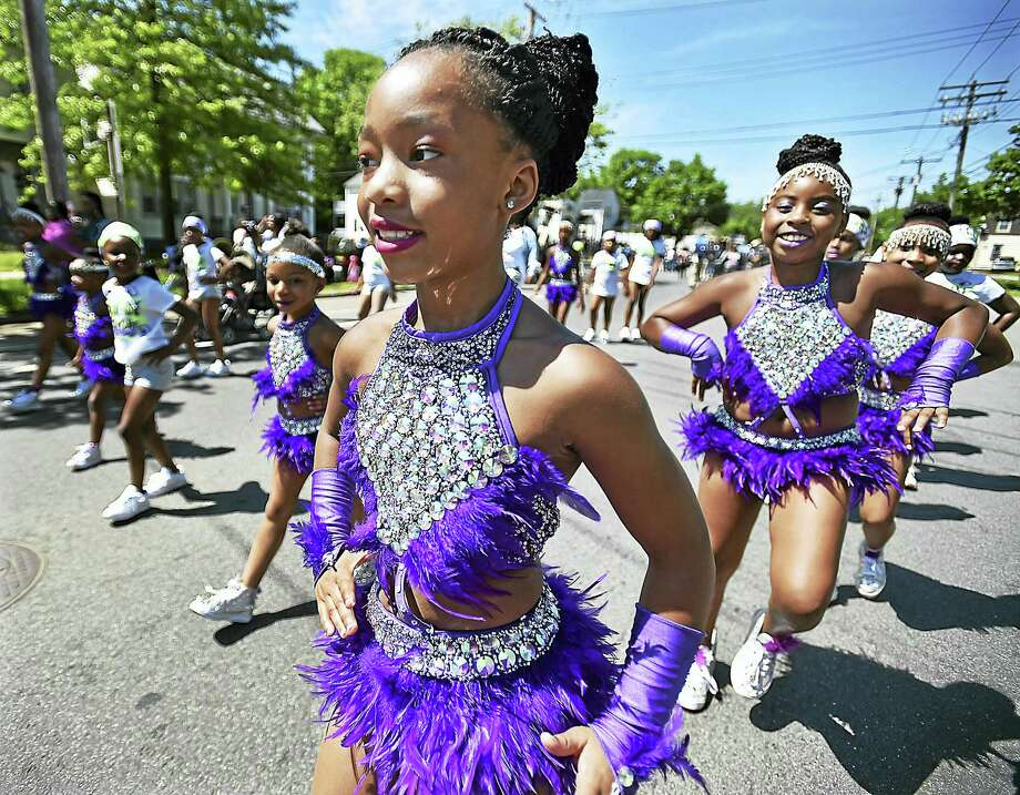 Catherine Avalone — New Haven Register  Members of Hamden Academy of Dance and Music perform at the parade. Photo: Catherine Avalone/New Haven... / Catherine Avalone/New Haven Register