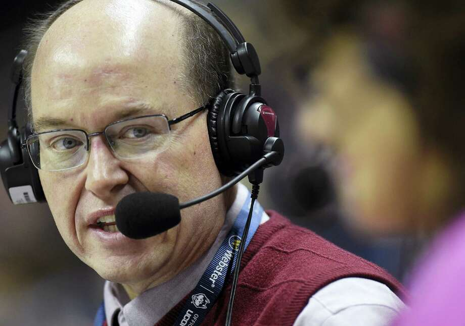 Bob Joyce, the radio play-by-play voice of the UConn women's basketball team, has called six national championship games as the radio voice of the UConn women's basketball team. Photo: Brad Horrigan — The Hartford Courant Via AP   / Hartford Courant