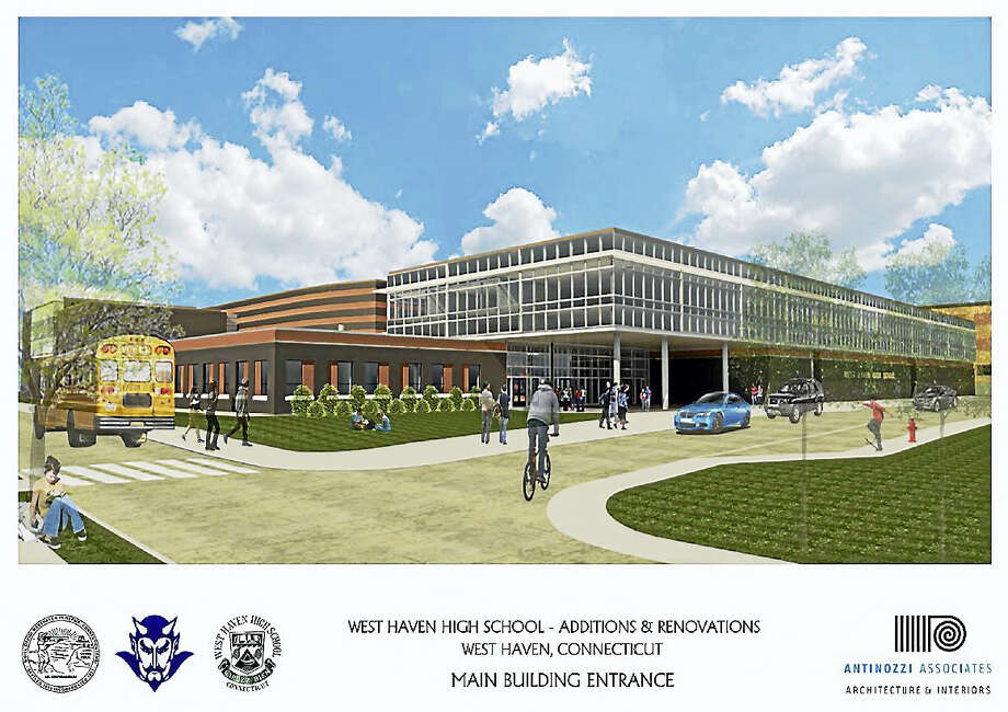 A 2015 rendering of the West Haven High School project. Photo: Antinozzi Associates Via The West Haven High School Building Committee